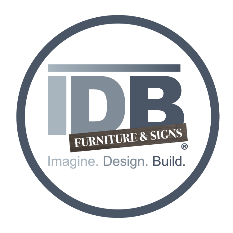 IDB Furniture & Signs Logo inside Circle